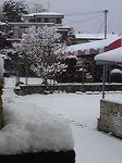 写真は私の家から幼稚園方向を、寒いので玄関から撮影したものです。